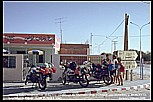 summer 1985_TUNISIA_94 km to Tozeur_here: Gabes, a Café_meeting Italian BMW motorcyclists ... some nice and funny days together ...