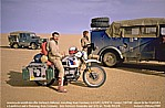 1987/88_NIGER_SAHARA_Jochen meets german travellers with a Landrover and a Hanomag_what a lucky chance