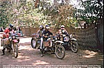 1987/88_CENTRAL AFRICAN REPUBLIK_Bangui_Jochen with BMW meets 2 other crazy german BMW bikers_Alfred and Werner_and the denish girl Iben ... funny days together ...