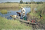 BOTSWANA_Okavango-Delta_what an adventure_ here: my good old friend Andrè_backpack-trip through Eastern-, Central- and Southern AFRICA 1991-92 with Andrè Zeidler_Jochen A. Hübener