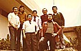 Jochen 1975 together with his Peruvian working colleagues _ during his practical training in 'organization' at the ship- yard 'Metal Empresa' in Callao, Lima, PERU, SOUTH- AMERICA_Jochen A. Hübener
