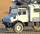 BACKES-MERCEDES-UNIMOG ... always enough space ... and ... with a fridge ... cold beer ... and so ... here in NAMIBIA 1999_Jochen A. Hübener
