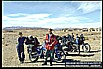my motorcycle world-trip 1995/96_meeting a swiss couple with two motorcycles on their way to INDIA_some days together_ here close to ZAHEDAN / Eastern IRAN, close to the border to PAKISTAN_November 1995_Jochen A. Hübener