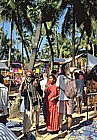 1995_INDIA_GOA_colourful Anjuna Beach Market_my motorcycle-trip around the world_Jochen A. Hübener