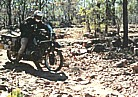 1996, Australia_a special survival-trip in Northern Territories_Jochen with BMW R100GS, crossing roughly, stony, rocky terrain, searching LOST CITY, without water_ my motorcycle-trip 'around the world' 1995-96_Jochen A. Hübener