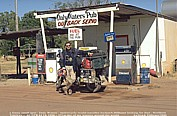 1996_AUSTRALIA_Daly Waters_Jochen ... searching for petrol_ ... fuel ... ask at the pub ... incredible, that was really funny_my motorcycle-trip around the world 1995-96_Jochen A. Hübener
